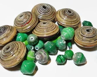 Fair Trade Paper Bead Mix 18