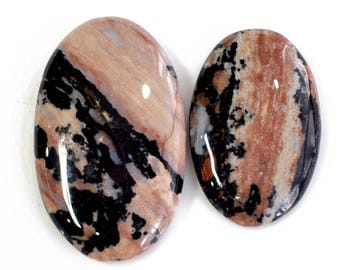 2 Pcs Genuine Honey Dendritic Agate Gemstone, 83 ct Wholesale Cabochon, Jewelry Making Honey Dendritic Agate, Smooth Cabochons