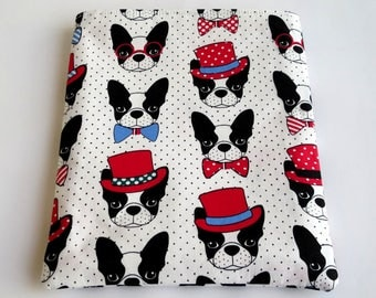Book Sleeve, Book Pouch, Book Protector, Paperback Cover, Book Bag, Kindle Cover, Book Protection, Bookish Gift for Her, French Bulldog