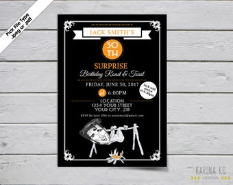 Roast & Toast 5x7 Invitation