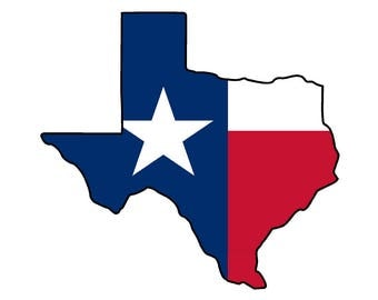 Texas State (Q2) Flag Vinyl Decal Sticker Car/Truck Laptop/Netbook Window