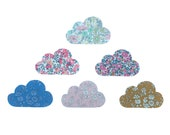 Liberty Print Iron On Clouds/Liberty Print iron on applique Clouds/Available in thirty classic Liberty Tana Lawn Prints