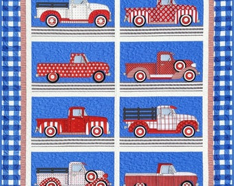 TRUCKS Quilt and Pillow Pattern by Amy Bradley Designs ABD 280