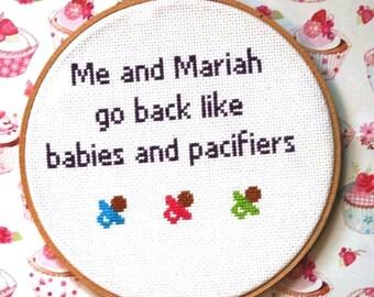 Mariah Carey Cross Stitch