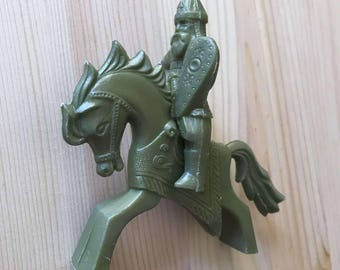 Vintage USSR toy Warrior with Horse. 1980s.