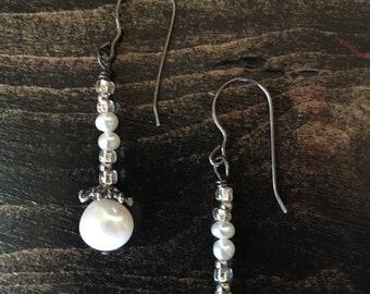 Pearl, Drop, Dangle Earrings
