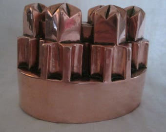 Antique Victorian English Copper Jelly Mould #183 C
