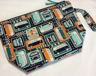Zippered project bag - Campers