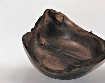 Figured Walnut Natural Edge Bowl