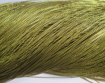 10 m braided gold wire 0.8 mm