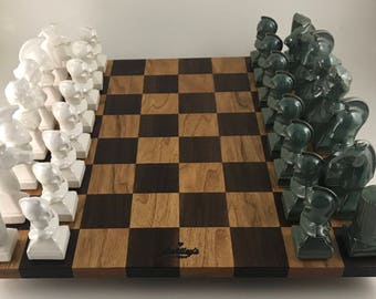 Ceramic Chess Set with Board