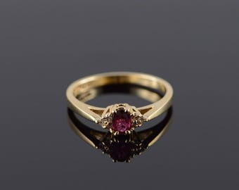 14k 0.25 CTW Ruby Diamond Ring Gold
