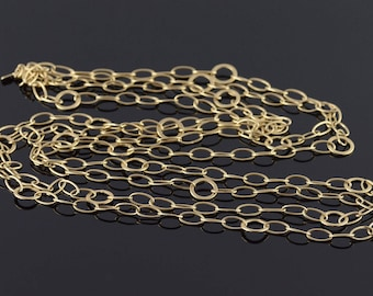 """14k 10.1mm Loose Cable Fancy Link Chain Necklace Gold 54"""""""