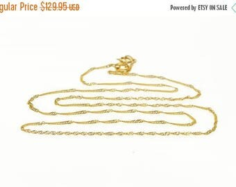 """Big SALE 22k 1.1mm Rolling Fancy Cable Link Chain Necklace Gold 19.5"""""""