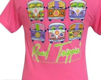 Girlie Girl Road trippin tee shirt NEW