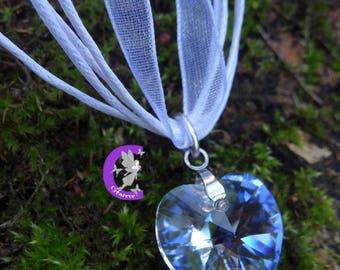Crystal Moonlight swarovski crystal heart pendant