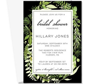 Greenery Bridal Shower Invitation | Botanical Garden Bridal Shower | Modern Printable Bridal Shower Invite | Perfectly Natural Collection