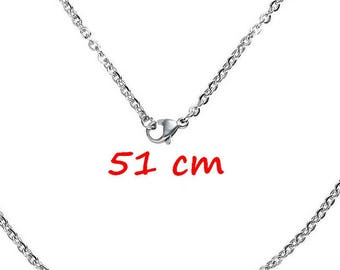 10 steel necklace stainless mesh horse pendants 51 cm