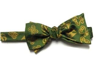 Green Silk Adinkra Self Tie Bowtie