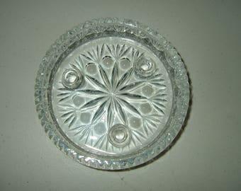 Princess House Crystal Taper/Pillar Candle Dish