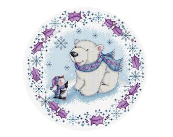 Watching the Snow  - Durene J Cross Stitch Pattern - DJXS2235
