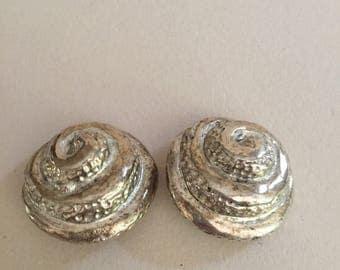 Kalinger shell Kalinger vintage shell earrings vintage earrings
