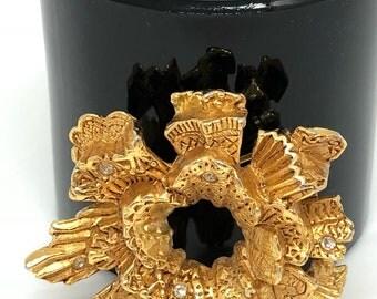 Vintage Christian Lacroix vibtage brooch crystal rhinestone brooch Christian Lacroix