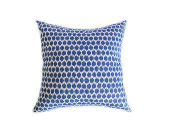 Blue and white polka dot pillow cover - Cushion cover - blue dot - Decorative Pillow  - throw pillow - modern pillow  indoor pillow  outdoor