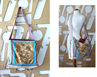 Handmade Tote Beach bag Shopping bag Upcycled Denim Patchwork bag Denim bag Travel Tote Ecological bag Overnight Bag Gym Bag