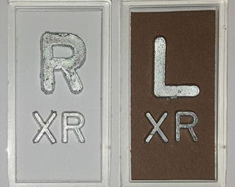 White and Brown XRay Markers With Lead Initials