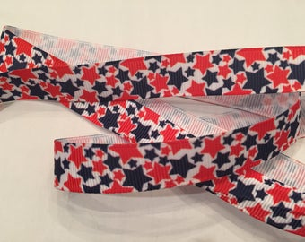 "Stars 5/8"" Grosgrain Patriotic Ribbon"