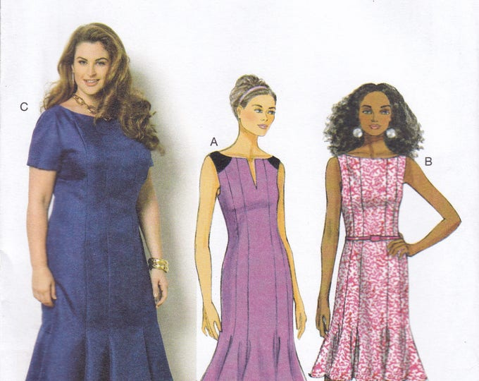 FREE US SHIP Butterick 6032 Gored Dress Godets Sleeve Variations Size 8 10 12 14 16 Bust 31 32 34 36 38 Factory Folded Out of Print 2014
