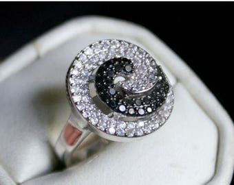 ON SALE One of a kind CZ Silver Ring