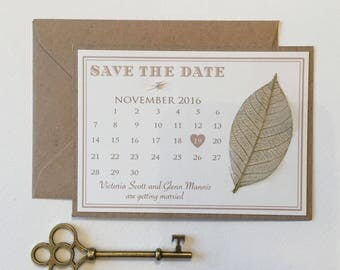 Rustic Leaves - Save the Dates