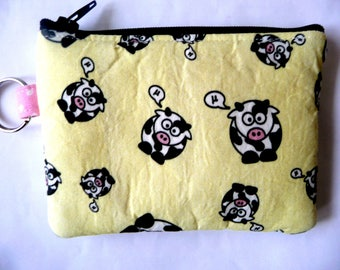 New coin purse with cows with added key ring