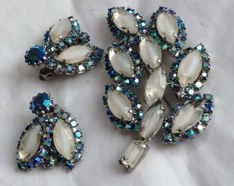 Weiss brooch and earrings set