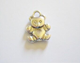 1 Teddy bear pendant charms
