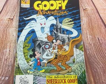 Vintage August 1991 Walt Disney Goofy Adventures Comic Book #16 Sheerluck Goof