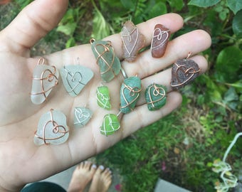 FREE with orders over 20 dollars Sea Glass  necklaces