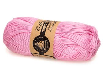 12 Pink Mayflower Organic Cotton 8/4 50g
