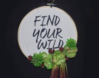 Find Your Wild Succulent Wreath