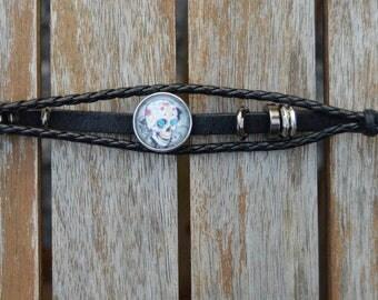 skull black bracelet