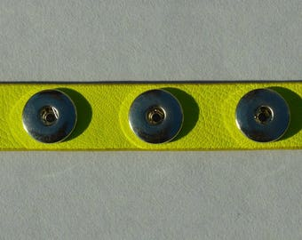 chunk yellow leather bracelet