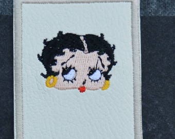 betty boop leather bookmark
