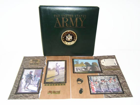 Army Scrapbook Album Premade Army Album Army Photo Album Army