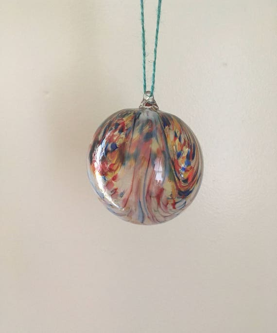 Rainbow raked ornament