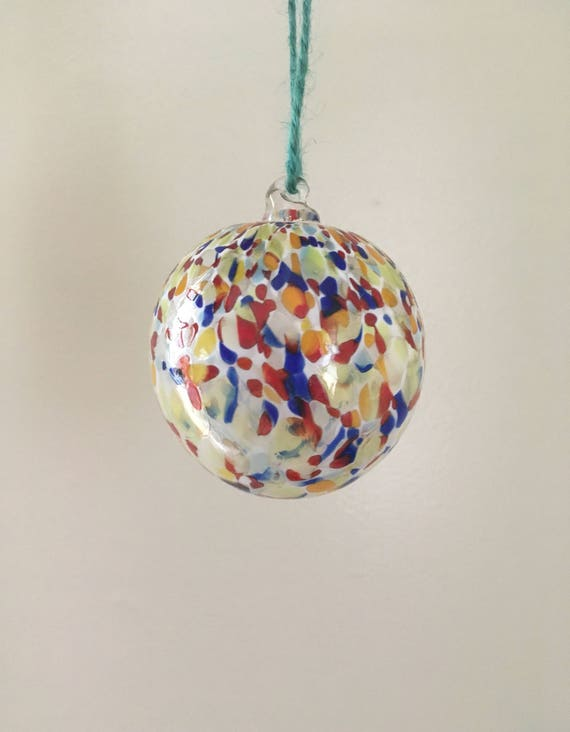 Rainbow speckled ornament