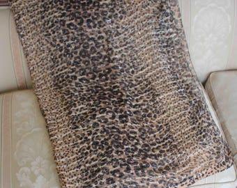 Vintage Leopard/Cheetah Print Belly Dance Veil, C. 1988