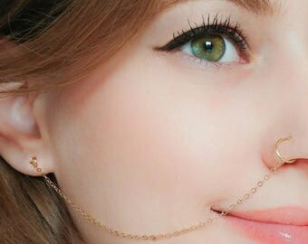 Nose Chain Etsy