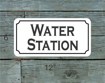 WATER STATION Metal Sign